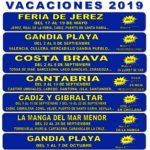 Circuitos de vacaciones – Primavera y verano 2019 (II)
