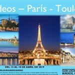 Burdeos – Paris – Toulouse del 13 al 18 de abril 2019